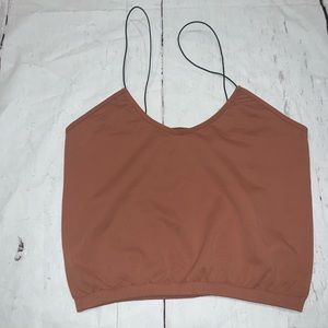 Free people skinny strap seamless brami crop top